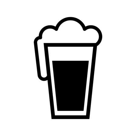 Beer Pint Glass Vector Icon