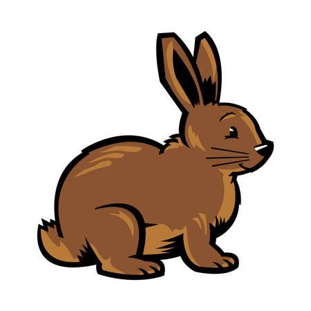 siluetas de animales: Historieta del vector del conejo de conejito