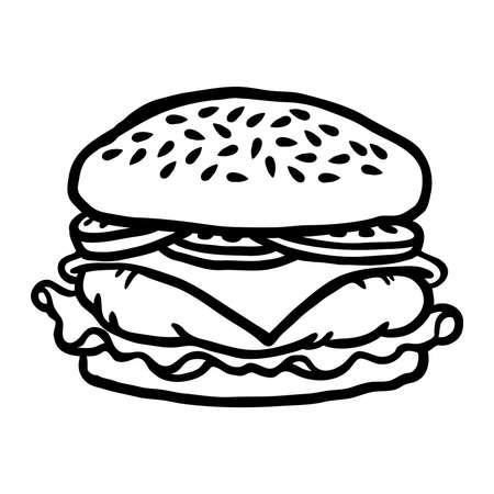 Burger cartoon vector illustratie