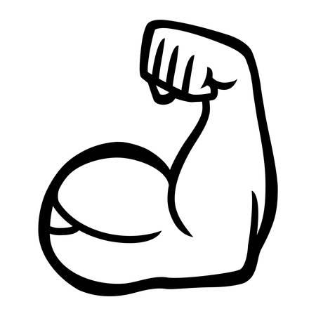 flex: Biceps Flex Arm Vector Icon