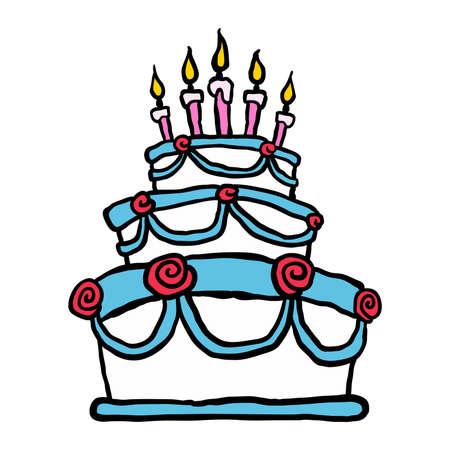 Birthday cake Иллюстрация