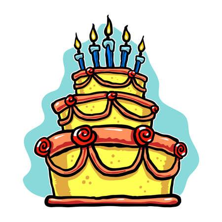 indulgence: Birthday cake Illustration