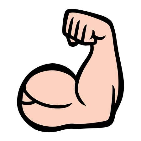 flexed: Biceps Flex Arm Vector Icon
