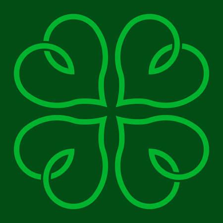 fourleaf: Lucky Irish clover leaf