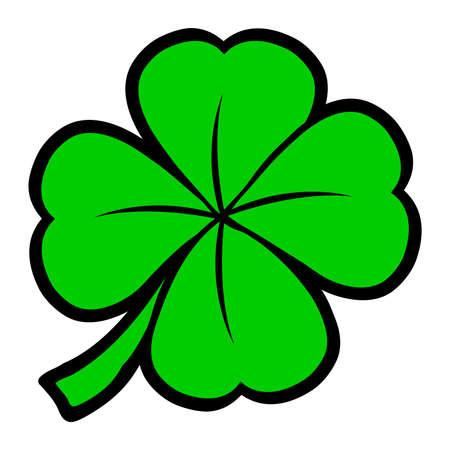 lucky clover: Lucky Irish clover leaf