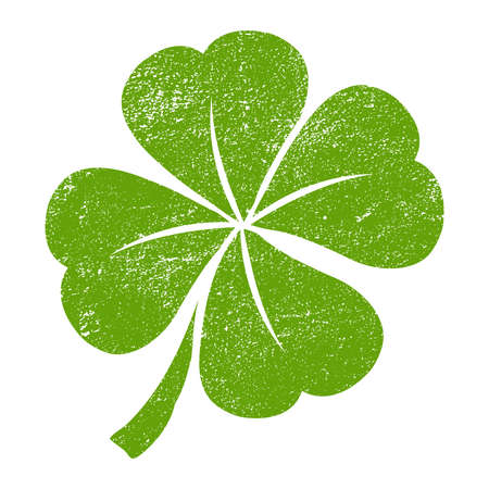 irish symbols: Lucky Irish clover leaf