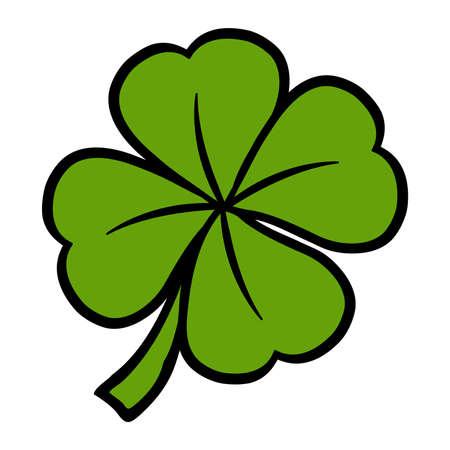 Lucky Irish clover leaf
