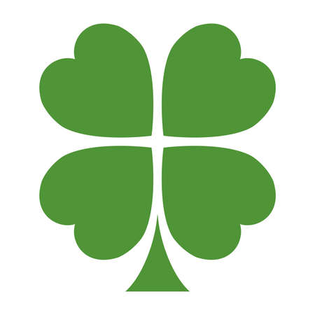 shamrock: Lucky Irish clover leaf