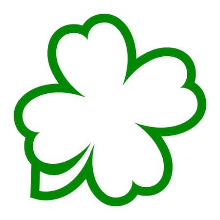 patric: Lucky Irish clover leaf