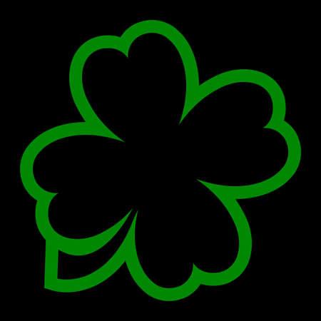 four fourleaf: Lucky Irish clover leaf