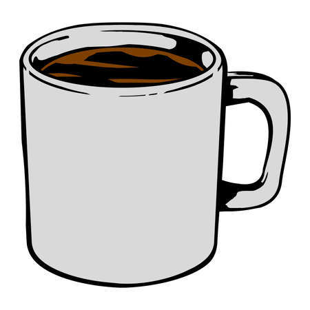 Coffee mug vector icon Illustration