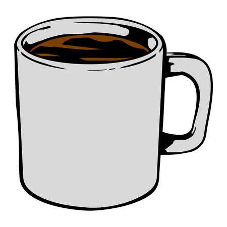 Kaffeetasse Vektor-Symbol Standard-Bild - 49536815