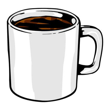 Coffee mug vector icon Ilustrace