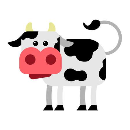 Cow vector cartoon illustratie Stock Illustratie