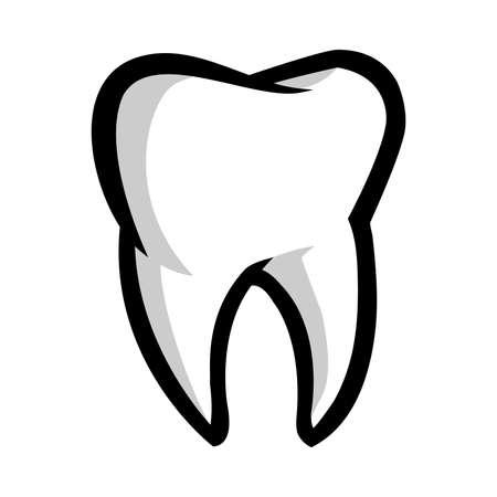 Tooth vector icon Ilustração