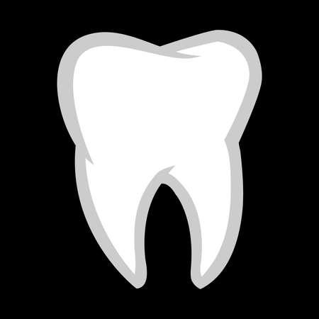 Tooth vector icon Archivio Fotografico - 49536943
