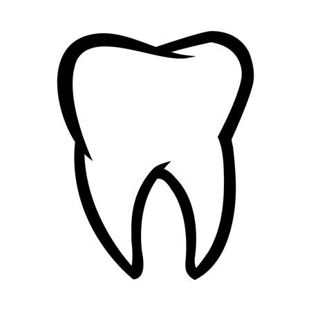 Tooth vector icon Stock Illustratie