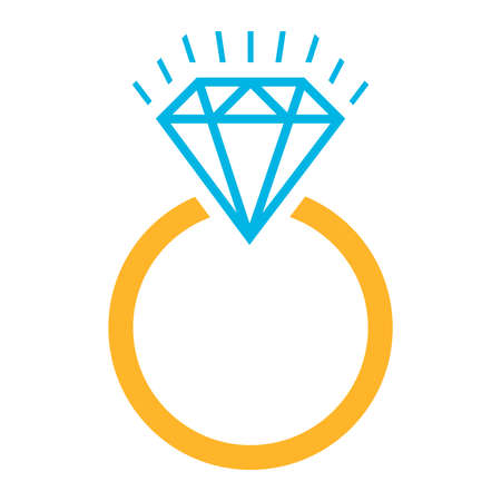 Diamond ring vector icon Иллюстрация