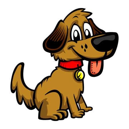 dog: Dog cartoon vector icon Illustration