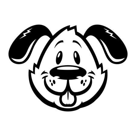 cartoon dog: Dog cartoon vector icon Illustration