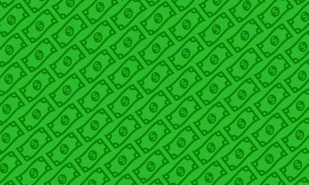 ドル法案ベクトル図  イラスト・ベクター素材