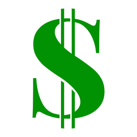 symbol sign: Dollar Sign Vector Icon Illustration