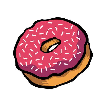 doughnut: Doughnut cartoon vector icon