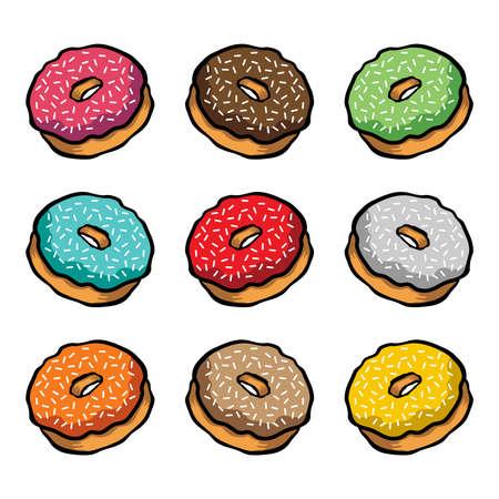Doughnut cartoon vector icon Imagens - 49668262