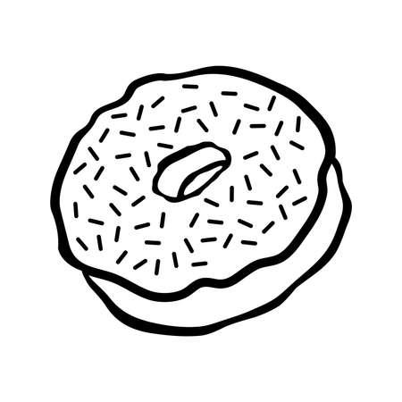 glazed: Doughnut cartoon vector icon