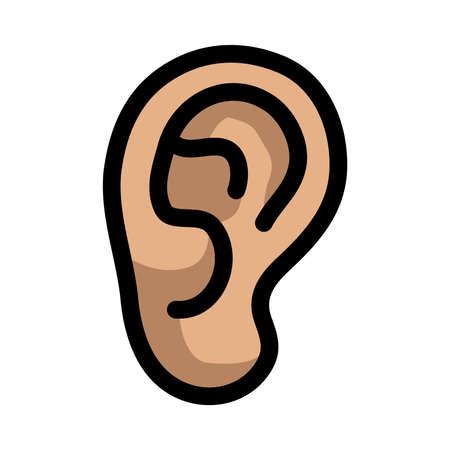 hear: Ear vector icon