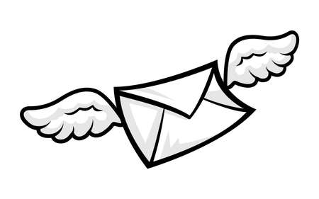 envelope: Envelope flying wings vector illustration