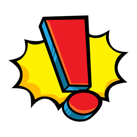 exclamation icon: Exclamation mark vector icon Illustration