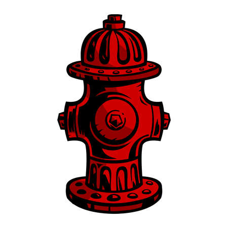 fire department: Fire Hydrant Illustration
