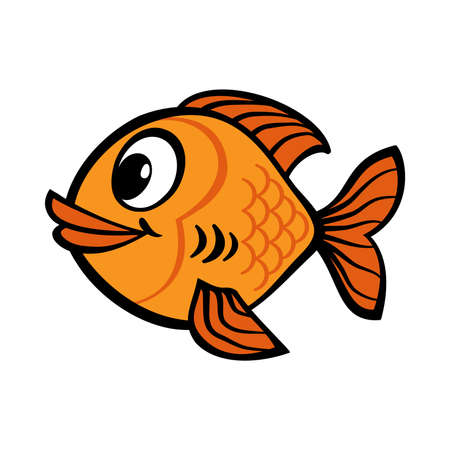 Fish cartoon vector icon Banco de Imagens - 49668872