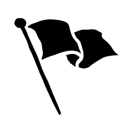 Fahnenschwenk Vector Icon Standard-Bild - 49668971