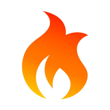 Flame Vector Icon Çizim