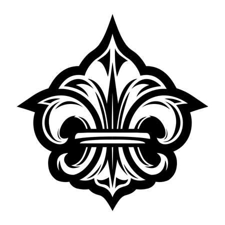 royal french lily symbols: Fleur de lis symbol