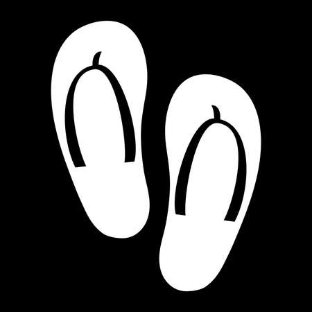 flip: Flip Flop Shoe Vector Icon