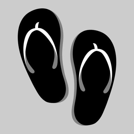 Flip Flop Shoe Vector Icon