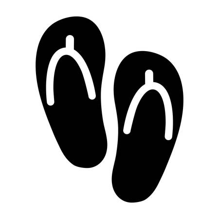 to flop: Flip Flop Shoe Vector Icon