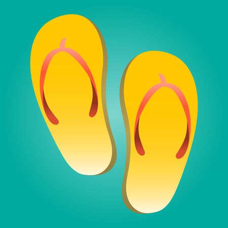 flop: Flip Flop Shoe Vector Icon