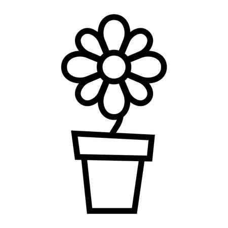 Flower pot vector icon