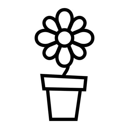 Flower pot vector icon