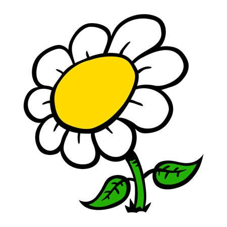 Cartoon flower vector illustration Ilustrace