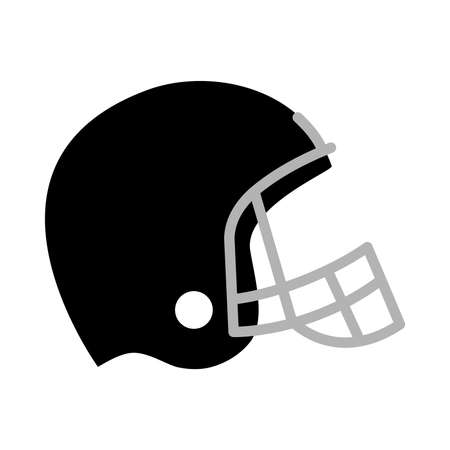 objects with clipping paths: Football Helmet Vector Icon