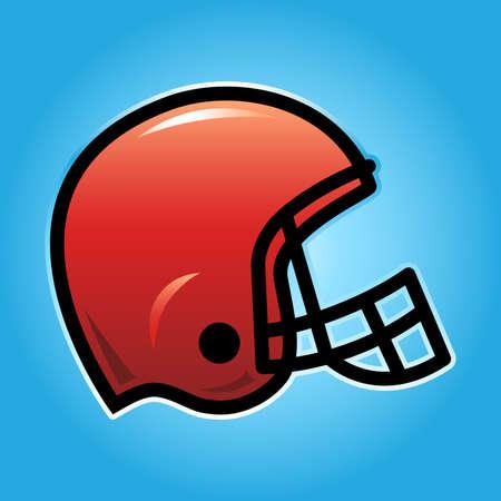 concussion: Football Helmet Vector Icon