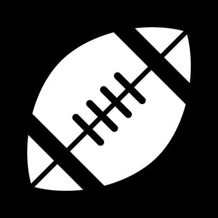 pigskin: Football Vector Icon