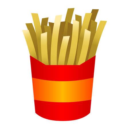frites: French fries cartoon vector illustration Illustration