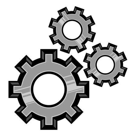 cog gear: Gears turning vector icon Illustration