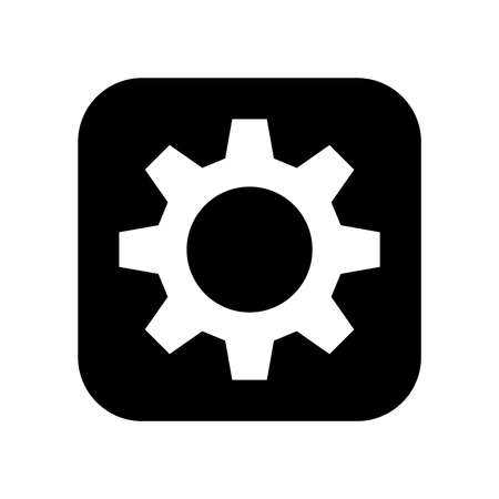 Gears turning vector icon Illustration
